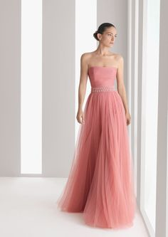 New arrival strapless a line tulle pink formal dresses long prom party dres Pink Formal Dresses, Cheap Prom Dresses, Prom Party Dresses, Cheap Wedding Dress, Formal Evening Dresses, Homecoming Dresses, Strapless Dress Formal, Girls Dresses, Quinceanera Dresses