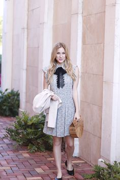 Dainty Floral Print Dress | A Daydream Love