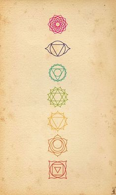Best Body - Tattoo's - Idee: Chakra Symbole Da ich mich mit Spiritualität und Chakren beschäftige. Me...