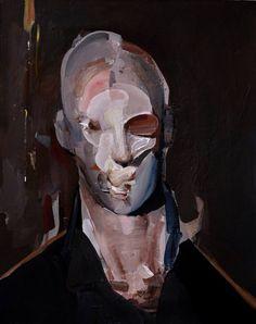 "Saatchi Art Artist Daniel Maczynski; Painting, ""iron face"" #art"