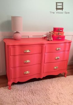 Coral French Provincial with Cup Pulls – The Wood Spa by Pat Rios