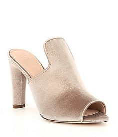 Louise et Cie Kaycee Leather & Suede Block Heel Mules