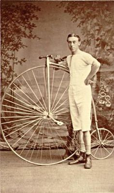 T. Sabin, winner of the Wenlock Olympian bicycle races in 1877 and 1878.