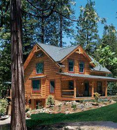 Treasure of the Sierra Nevada: Log Cabin in the California Mountains - LogHome.com - LogHome.com