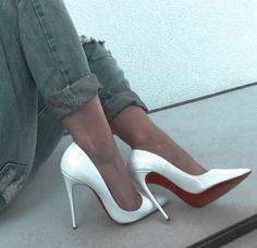 Stilettos, Stiletto Heels, Denim Heels, Leather Heels, Dress Shoes, Shoes Heels, Gorgeous Heels, Hot High Heels, Designer Heels