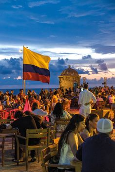 Cafe del Mar, Cartagena, Colombia is a great way to integrate into the South American culture and use the language as you are immersed. Columbia South America, South America Travel, Visit Colombia, Colombia Travel, Places To Travel, Travel Destinations, Places To Visit, Cartegena Colombia, Bogota Colombia