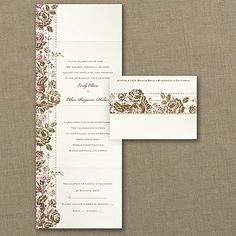 Faded Floral - Seal 'n Send. Available at Persnickety Invitation Studio
