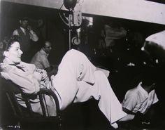 Katharine Hepburn on the set of Adam's Rib (1949)