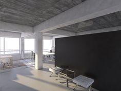 Dit kantoor in een bestaand pand aan de Scheepmakeshaven in Rotterdam is ontworpen voor Charta Software BV door NOMAA | architectuur & interieur.