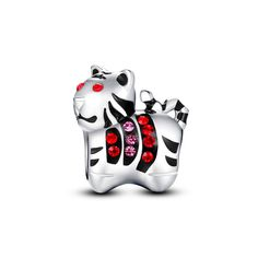Chinese Zodiac Tiger Charm 925 Sterling Silver