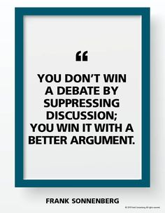 """You don't win a debate by suppressing discussion; you win it with a better argument. Positive Vibes, Positive Quotes, Motivational Quotes, Inspirational Quotes, Favorite Quotes, Best Quotes, Love Quotes, Law Of Attraction Meditation, Growth Quotes"