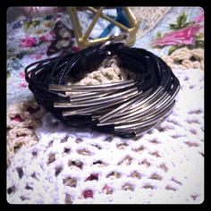Leather braclet Trendy leather multi layer braclet like new never worn Buckle Jewelry Bracelets