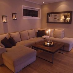 living room couches on sale Living Room Decor Cozy, Home Living Room, Apartment Living, Living Room Designs, Bedroom Decor, Apartment Ideas, Cozy Apartment, Living Room Decor Ideas Brown, Cozy Living