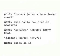 "I read ""excuse me"" in Jackson's voice, lol!"