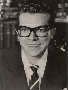 Jazz Legend Esquivel Space Age Bachelor Pad Music.. 1950s FAOSA glasses . http://faosaeyewear.com/Legends_In_Faosa_Eyeglasses.html