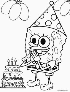 Coloring Pages Of Spongebob Squarepants From The Thousand Pictures
