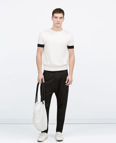 Image 1 of Short sleeved sweater from Zara