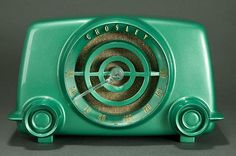 Vintage 1951 crosley bullseye old bakelite radio highest quality restoration