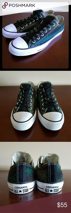 Converse All Star Low Top fabric sneakers Converse All Star Low Top Green fabric sneakers women's size 10 men's size 8. Brand new without tags. Converse Shoes Sneakers