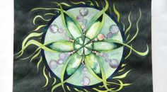 Stained-glass mandala completed. To learn the easy watercolor technique I used to make this mandala, see my blog post: http://www.creativeenergycare.com/stained-glass-mandalas/