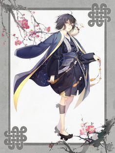 한국검 의인화 합작 : 네이버 블로그 Game Character Design, Comic Character, Character Concept, Concept Art, Maid Outfit Anime, Anime Maid, Kimono Design, Fantasy Costumes, Inspirational Artwork
