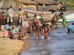 Lake Malawi is pristine; it provides fish and bathing water.  #Malawi #Africa