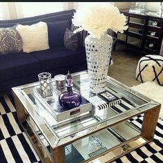Coffee table. Love the decor