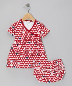 Take a look at this Red L'Amour Organic Dress & Diaper Cover by Sweet Peanut on #zulily today!