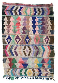 Love the geometric shapes of these rugs, and beautiful colors!   Vintage Moroccan rugs sold by Pink Rug Co. https://www.etsy.com/shop/pinkrugco