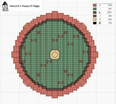 hancock's house of happy: Down The Hobbit Hole: Bag End Front Door Cross Stitch Chart