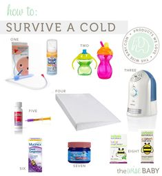 How to treat an infant cold - essentials for surviving cold season.