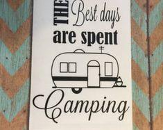 two wheeler camper Camping signs Customized by Woodbeautifier