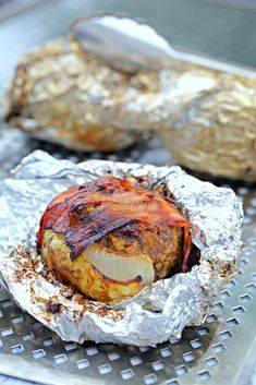 Campfire Foil Dinners: Meatloaf in Onion Cups