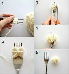 DIY couture facile et astuces pour fabriquer des pompons DIY easy sewing and tricks to make pompoms Blog Couture, Diy Couture, Craft Stick Crafts, Diy And Crafts, Arts And Crafts, Pom Pom Crafts, Yarn Crafts, Diy Laine, How To Make A Pom Pom