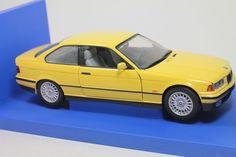 RARE UT BMW 3 Series Coupe Yellow 1:18 Scale Die Cast Model Car MIB #UT #BMW