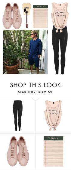 """Lazy day with Niall Horan"" by rocklikeachampion ❤ liked on Polyvore featuring adidas Originals, Common Projects and Rifle Paper Co"