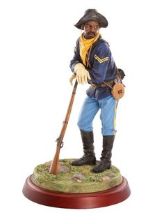 Thomas Blackshear's Buffalo Soldier figurine. A member of his Ebony Visions Collection.