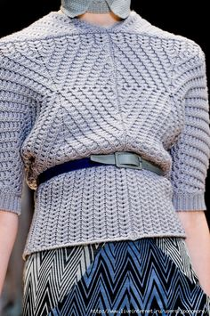 [chart with fabric stitch pattern] Cacharel_Fall_2012_Details