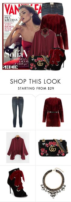 """Shein Blouse"" by sally92 ❤ liked on Polyvore featuring Vanity Fair, Current/Elliott, Drome, Gucci, Giuseppe Zanotti, Dorothy Perkins and Sheinside"