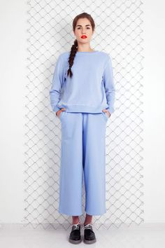 Arela SS 14 | Love velour sweater and Sora cotton trousers