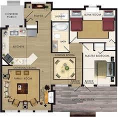 You might think that tiny homes don't have enough room for a dining table, let alone a dining room, but that's not necessarily true! If  sit-down family dinners are a priority for you, check out these floor plans to see how you can make them happen.