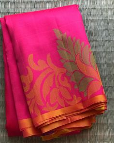✨Kanchivaram Soft Silks✨ Beautiful Shade of Pink woven with Thread all over the saree with art like pallu. Comes with One Meter blouse… Cotton Saree Designs, Saree Blouse Neck Designs, Kora Silk Sarees, Silk Saree Kanchipuram, Satin Saree, Wedding Silk Saree, Fancy Sarees Party Wear, Modern Saree, Saree Models