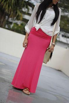 Skirt: c/o kiki la rue / shirt: old Agaci / Sandals: Target available now / Purse: Target