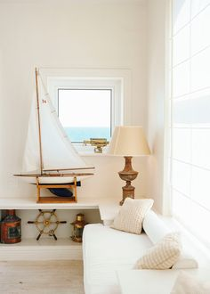 I like the vintage accents. Clean White and Vintage Accents   Last Look: Coastal Interiors