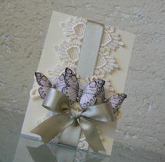 Hochzeitskarte mit Schmetterlingen