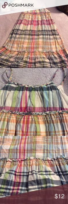 Baby Gap girls dress Plaid girls dress with hints of gold stripes. Preloved GAP Dresses Casual