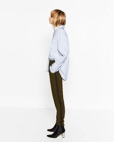 TROUSERS WITH SIDE BAND - Available in more colours