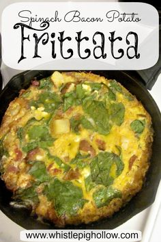 Spinach Bacon Potato Frittata | Whistle Pig Hollow