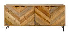 Recycled pine sideboard W 175cm Chevron