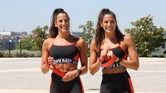 «Glúteos como piedras» con los ejercicios fáciles con gomas de las Gemelas Pin Fitness, Bikinis, Swimwear, Bra, Sports, Fashion, Get In Shape, Workout Exercises, Bands